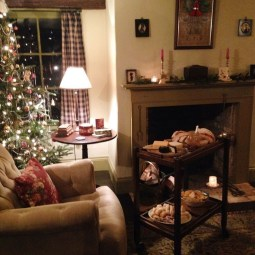 Awesome Vintage Christmas Living Room Decoration Ideas34