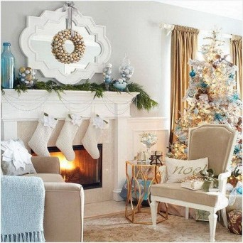 Awesome Vintage Christmas Living Room Decoration Ideas41