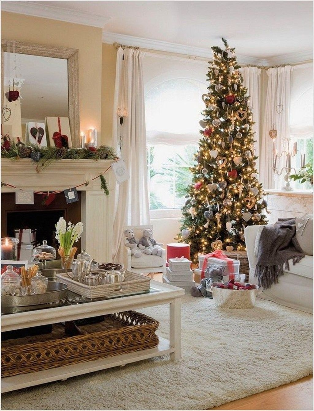 Awesome Vintage Christmas Living Room Decoration Ideas42