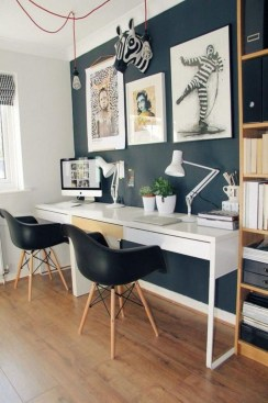 Comfy Home Office Design Ideas For Small Apartment13