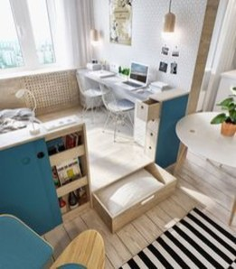 Comfy Home Office Design Ideas For Small Apartment16