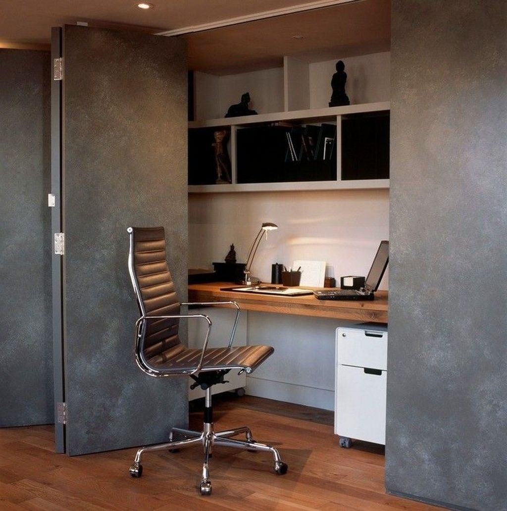 Comfy Home Office Design Ideas For Small Apartment22