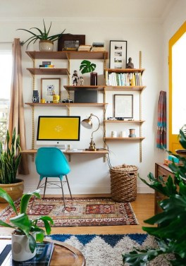 Comfy Home Office Design Ideas For Small Apartment33