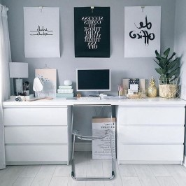 Comfy Home Office Design Ideas For Small Apartment34