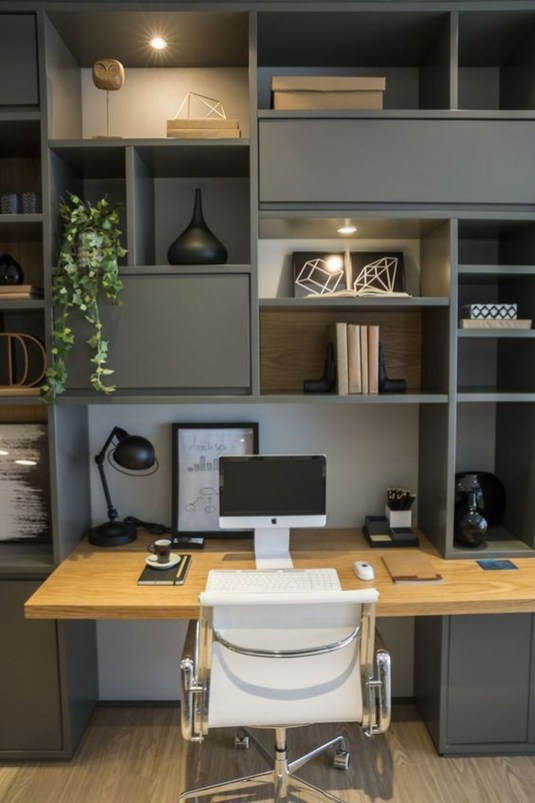 Comfy Home Office Design Ideas For Small Apartment44
