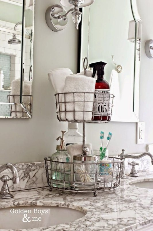 Easy Ideas For Functional Decoration Of Small Bathroom40