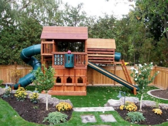 Incredible Backyard Playground Kids Design Ideas11