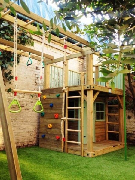 Incredible Backyard Playground Kids Design Ideas23