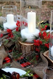Inexpensive Diy Outdoor Winter Table Decoration Ideas21