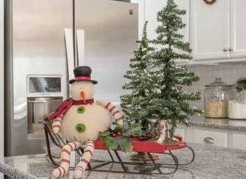 Lovely Christmas Kitchen Decorating Ideas30