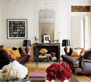 Unordinary Living Room Designs Ideas With Combinations Of Brown Color12
