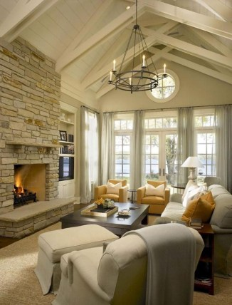 Creative Fresh Lake House Living Room Decoration Ideas08