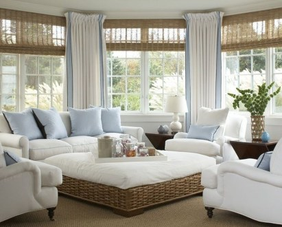 Creative Fresh Lake House Living Room Decoration Ideas15