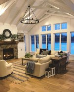 Creative Fresh Lake House Living Room Decoration Ideas19