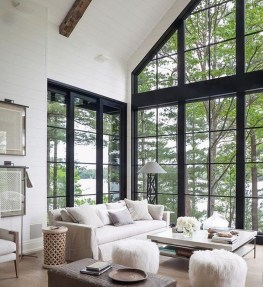 Creative Fresh Lake House Living Room Decoration Ideas42
