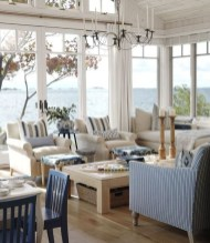 Creative Fresh Lake House Living Room Decoration Ideas47