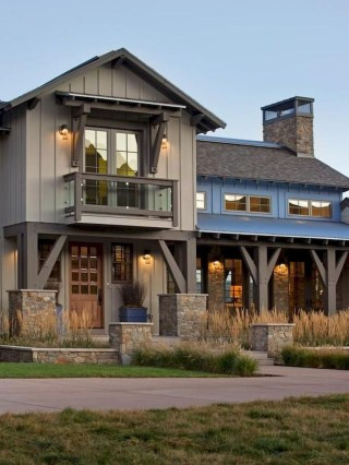Cheap Farmhouse Exterior Design Ideas10