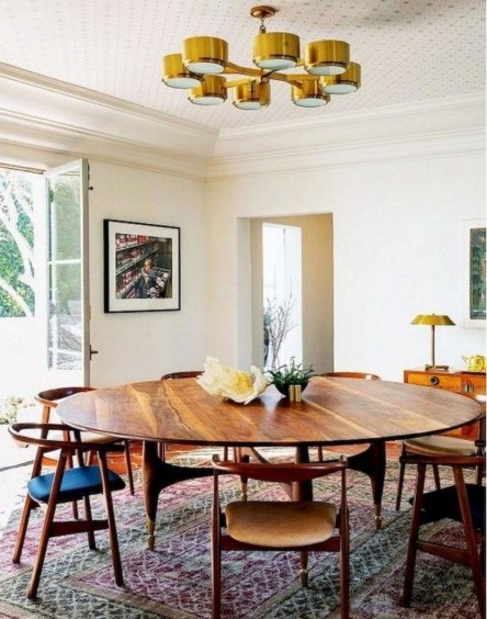 Cool Mid Century Dining Room Table Ideas12