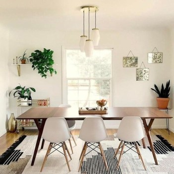 Cool Mid Century Dining Room Table Ideas20