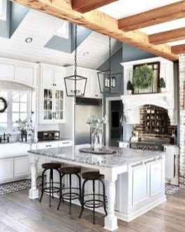 Elegant Farmhouse Kitchen Design Decor Ideas25