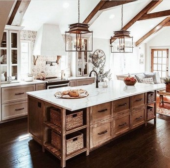 Elegant Farmhouse Kitchen Design Decor Ideas35