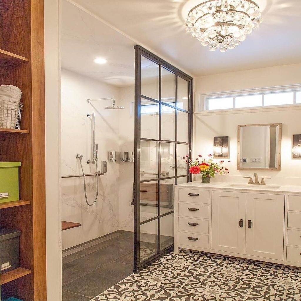 Incredible Curbless Shower Ideas For House16