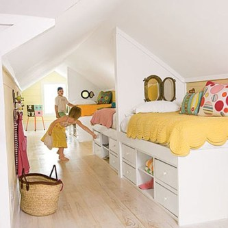 Affordable Attic Kids Room Decor Ideas06