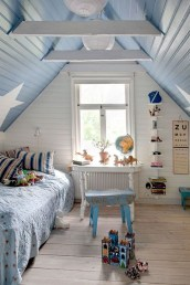 Affordable Attic Kids Room Decor Ideas14