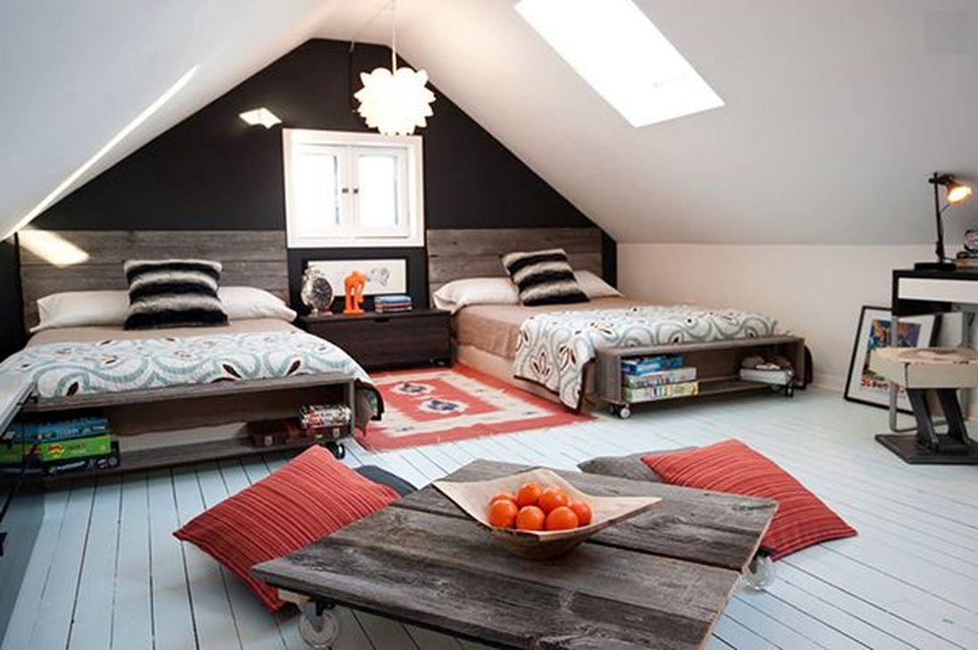 Affordable Attic Kids Room Decor Ideas16
