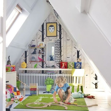 Affordable Attic Kids Room Decor Ideas24
