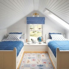 Affordable Attic Kids Room Decor Ideas31