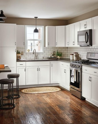 Captivating White Cabinets Design Ideas For Kitchen38