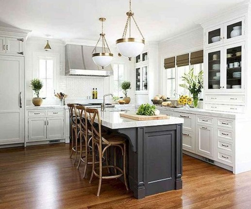 Captivating White Cabinets Design Ideas For Kitchen39