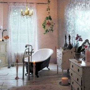 Cute Bohemian Style Decorating Ideas For Bathroom01