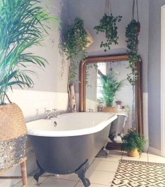 Cute Bohemian Style Decorating Ideas For Bathroom28