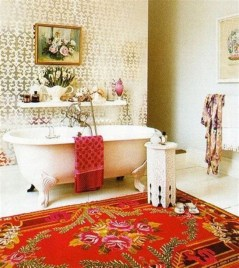 Cute Bohemian Style Decorating Ideas For Bathroom30