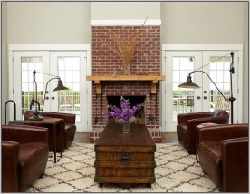 Modern Brick Fireplace Decorations Ideas For Living Room01