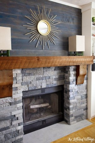 Modern Brick Fireplace Decorations Ideas For Living Room06