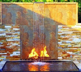 Stylish Outdoor Water Walls Ideas For Backyard01