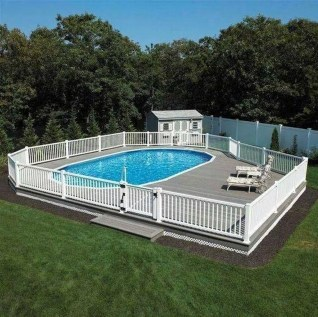 Affordable Ground Pool Landscaping Ideas37