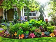 Beautiful Front Yard Cottage Ideas For Garden Landscaping25