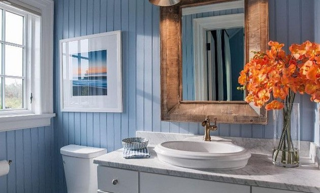 Charming Bathroom Décor Ideas With Blue Colors45