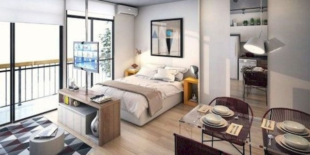 Fabulous Small Apartment Studio Decoration Ideas33