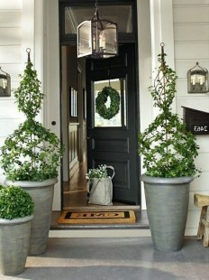 Adorable Porch Planter Ideas That Will Give A Unique Look38