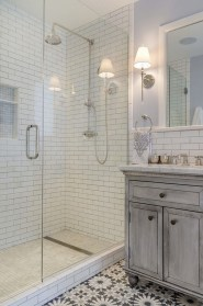Catchy Subway Tiles Application Ideas For Bathroom11
