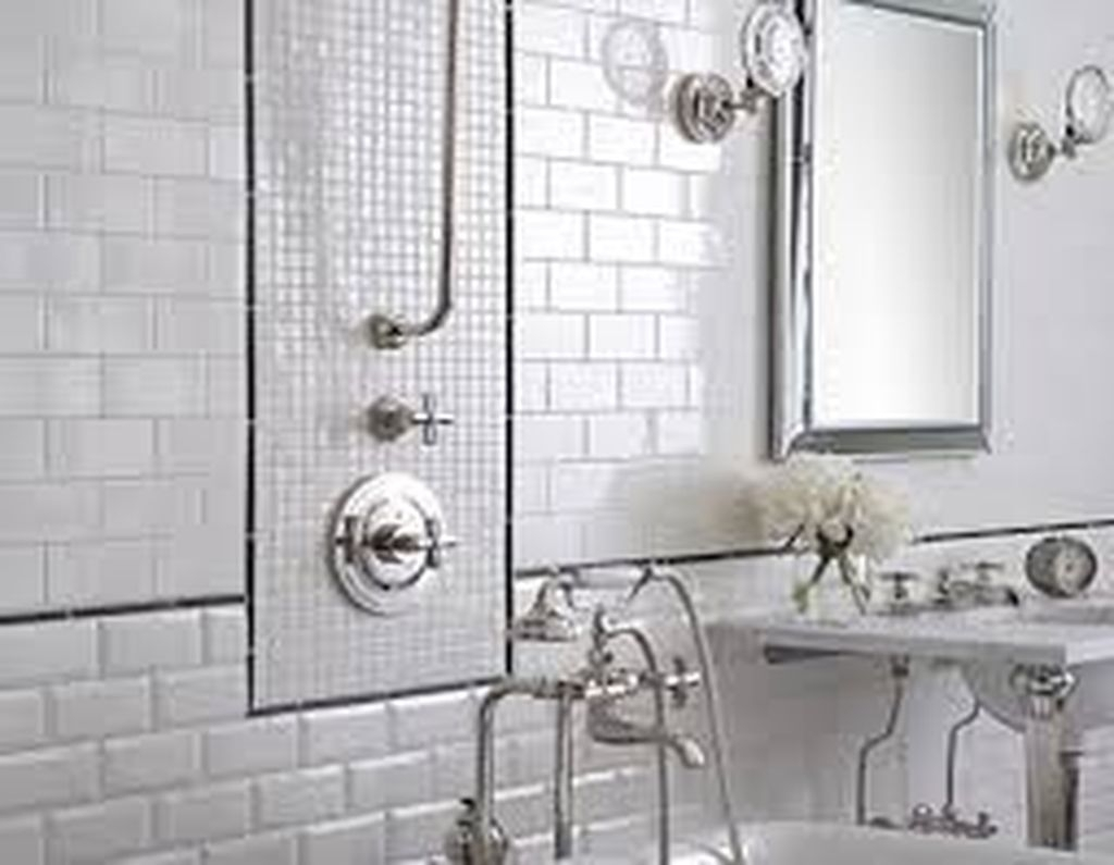 Catchy Subway Tiles Application Ideas For Bathroom35