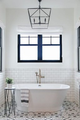 Catchy Subway Tiles Application Ideas For Bathroom42