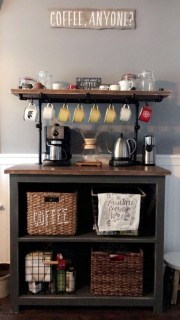 Latest Diy Coffee Station Ideas In Your Kitchen22
