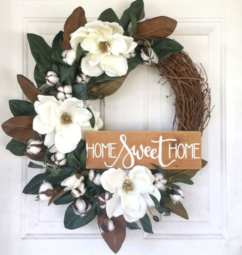 Pretty Front Door Wreath Ideas37