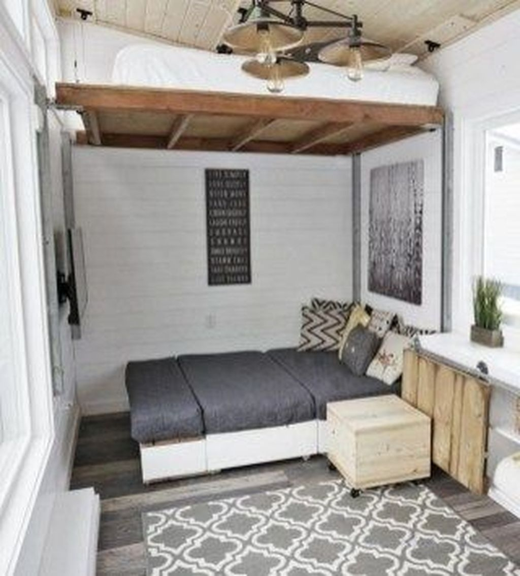 Rustic Tiny House Design Ideas With Two Beds16